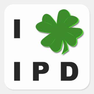 I Shamrock IPD White Sticker