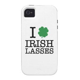 I Shamrock Irish Lasses Vibe iPhone 4 Covers