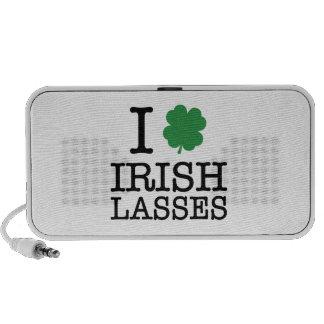 I Shamrock Irish Lasses Notebook Speaker