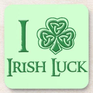 I Shamrock Irish Luck Drink Coaster