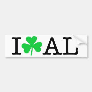 I Shamrock (Love Heart) Alabama AL Bumper Sticker