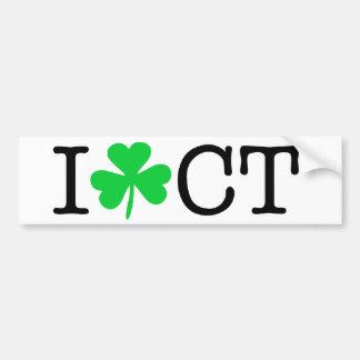 I Shamrock (Love Heart) Connecticut CT Bumper Sticker