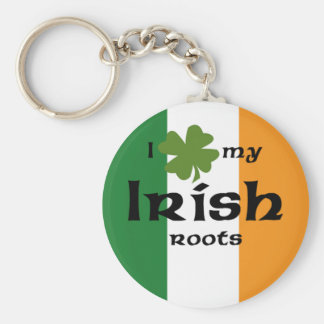 "I ""shamrock"" my Irish roots Key Ring"
