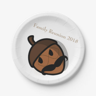 I Shook My Family Tree Nuts Family Reunion Meal 7 Inch Paper Plate