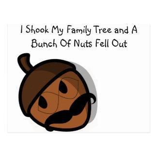 I Shook My Family Tree Postcard