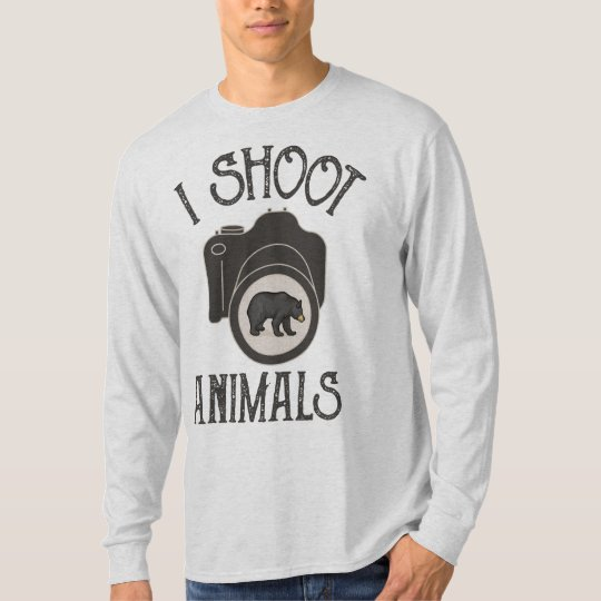 I Shoot Animals - Black Bear T-Shirt