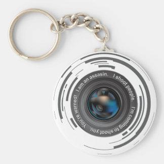 I shoot people basic round button key ring