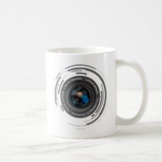 I shoot people basic white mug