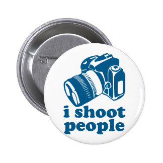 I Shoot People - Blue Pinback Buttons