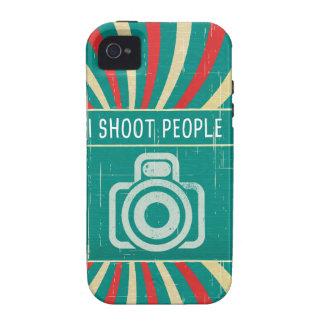I shoot people - camera in retro background iPhone 4/4S covers