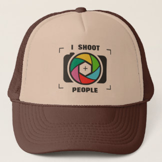 I Shoot People - Colorful Camera Shutter Fun Trucker Hat