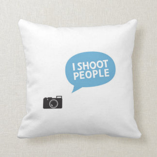 I shoot people, Love Portrait Photography cushion