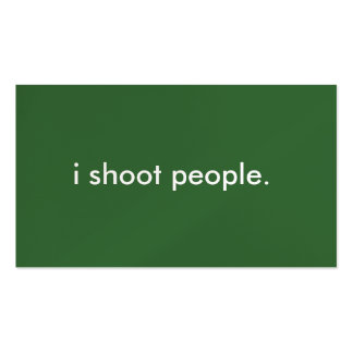 i shoot people. pack of standard business cards