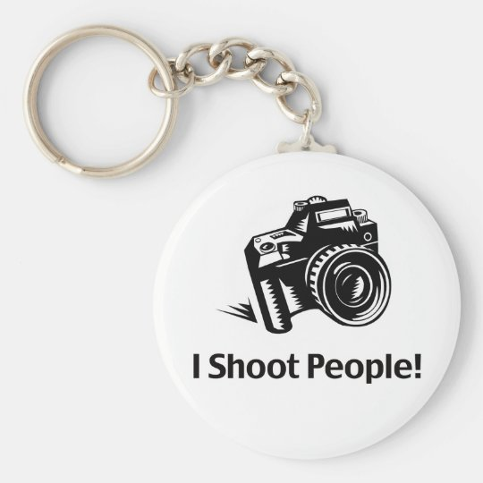 I Shoot People Photographer Basic Round Button Key Ring