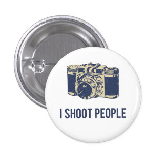 I Shoot People Photography Camera 3 Cm Round Badge