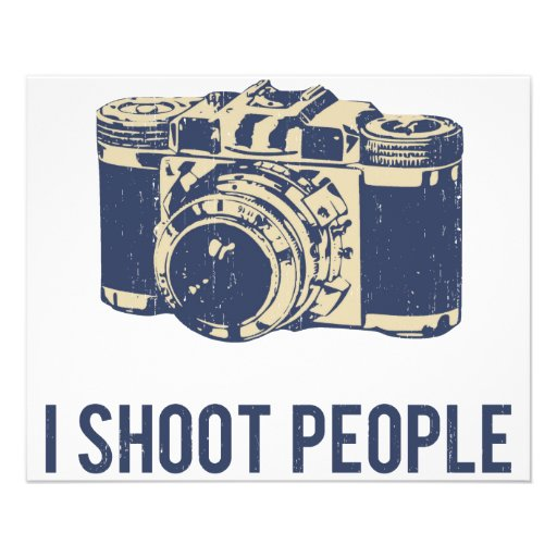 I Shoot People Photography Camera Personalized Flyer