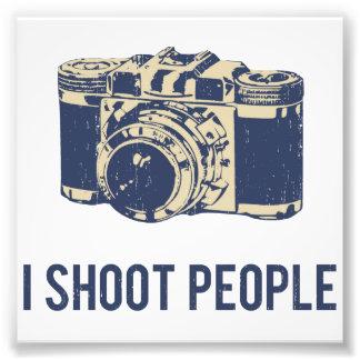 I Shoot People Photography Camera Photo Print