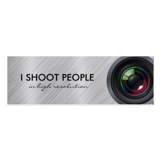 I shoot people - Professional Photographer Business Card Template