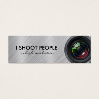 I shoot people - Professional Photographer Mini Business Card