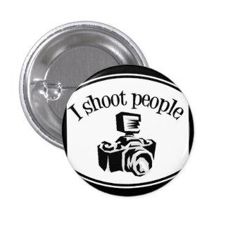 I Shoot People Retro Photographer's Camera B&W Pins