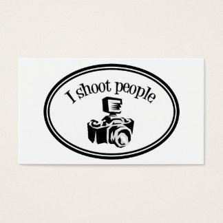 I Shoot People Retro Photographer's Camera B&W Business Card
