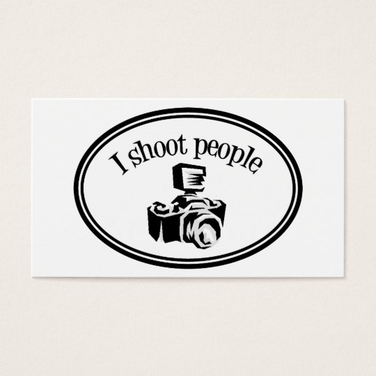 I Shoot People Retro Photographer's Camera B&W Business