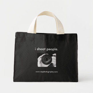 i shoot people., www.myphotography.com tote bags