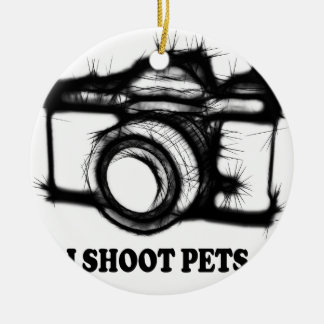 I shoot pets round ceramic decoration