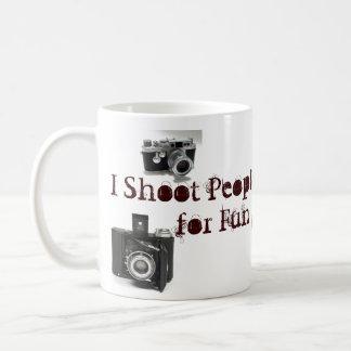 I shoot ppl for fun camera pun coffee mug