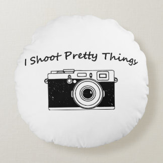 I Shoot Pretty Things Photography Round Cushion