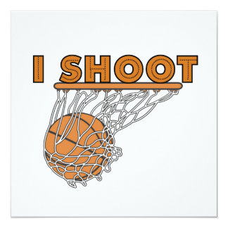 I Shoot T-shirts and Gifts 13 Cm X 13 Cm Square Invitation Card