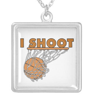 I Shoot T-shirts and Gifts Silver Plated Necklace