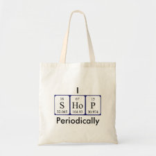I shop perodically customisable tote bag