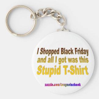 I Shopped Black Friday Basic Round Button Key Ring