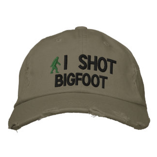 I shot Bigfoot Deluxe version Embroidered Baseball Caps
