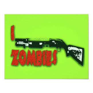 I SHOTGUN ZOMBIES 11 CM X 14 CM INVITATION CARD