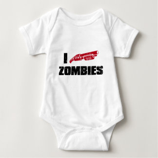 i shotgun zombies baby bodysuit