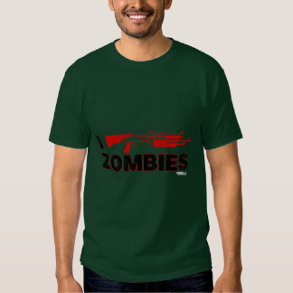 I Shotgun Zombies - Gun Shoot Kill Mutant Zomb Tee Shirt