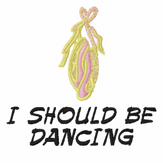 I SHOULD BE DANCING Embroidered Hooded sweatshirt