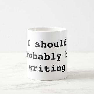 I should probably be writing basic white mug