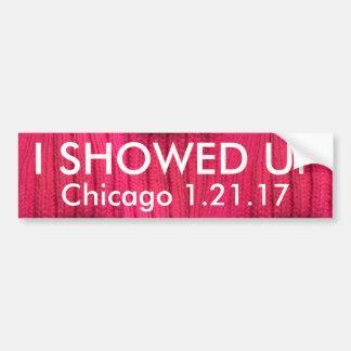 I Showed Up Chicago Bumper Sticker