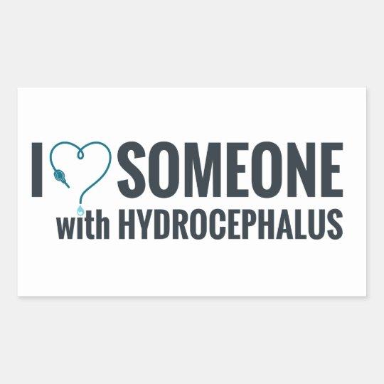 I Shunt Heart Someone with Hydrocephalus Rectangular Sticker