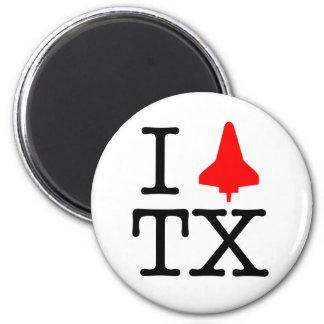 I Shuttle TX 6 Cm Round Magnet