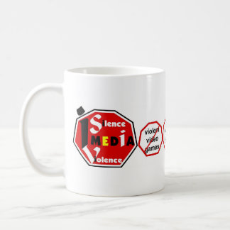 I Silence Media Violence lh-Mug Coffee Mug