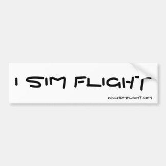 I SIM FLIGHT, WWW.SIMFLIGHT.COM BUMPER STICKER