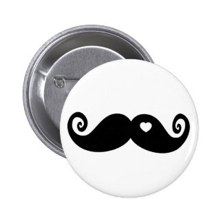 I simply love Moustache Pinback Buttons