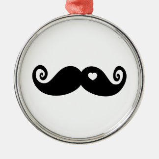 I simply love Moustache Christmas Ornament