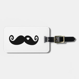 I simply love Moustache Luggage Tag