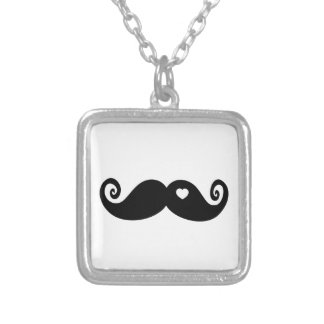 I simply love Moustache Silver Plated Necklace