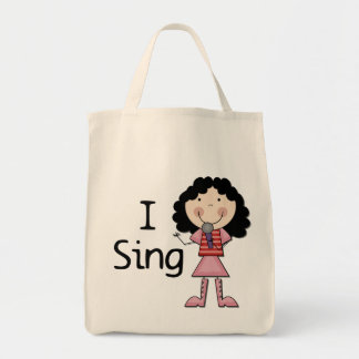 I Sing Female Tshirts and Gifts Canvas Bag